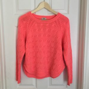 { Wallace} Pink Cropped Wool Sweater